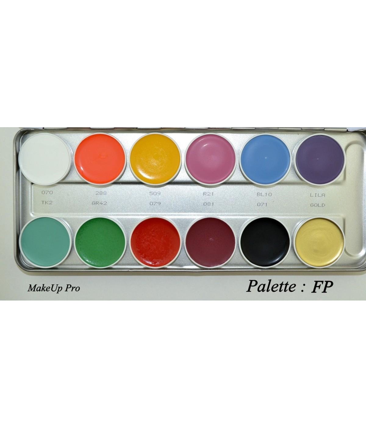 "Kryolan Supracolor Palette 12 Farben 40ml  ""FP"""