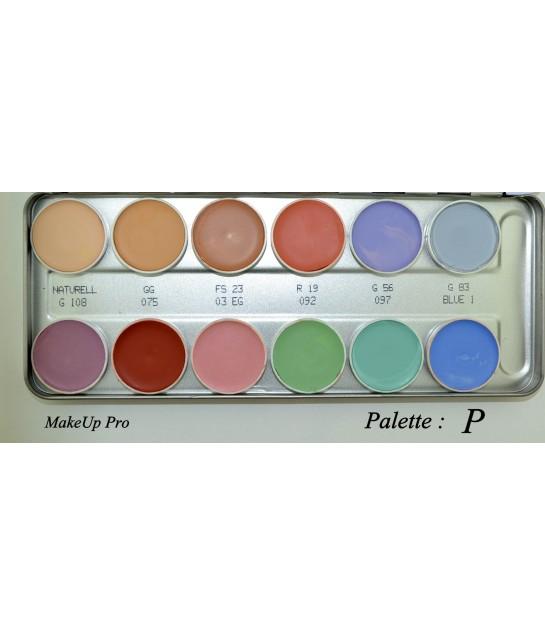 Kryolan Supracolor Palette 12 Farben   40ml