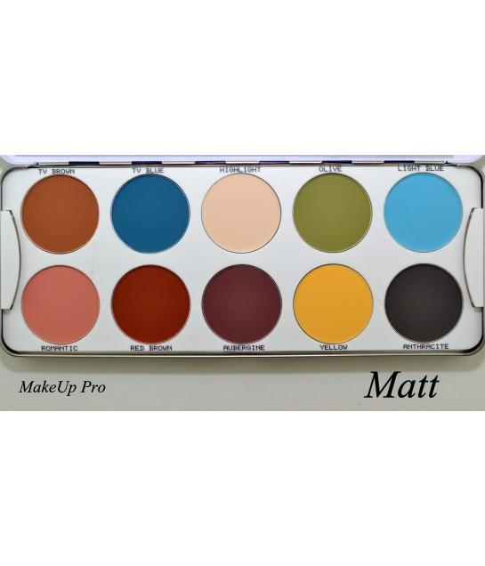 Kryolan Eye Shadow Palette 10 Farben25g