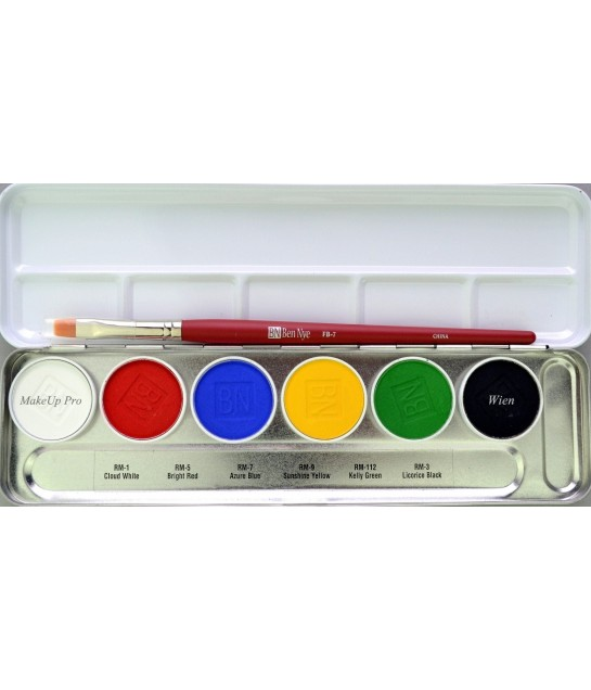 Ben Nye MagieCake Aqua Paint Palette 6 Farben 24g