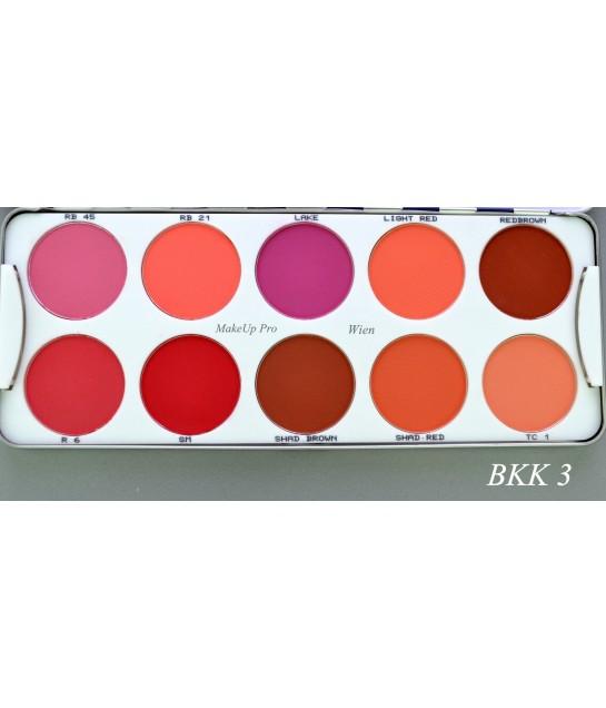 Kryolan Trockenrouge Palette 10 Farben 25g