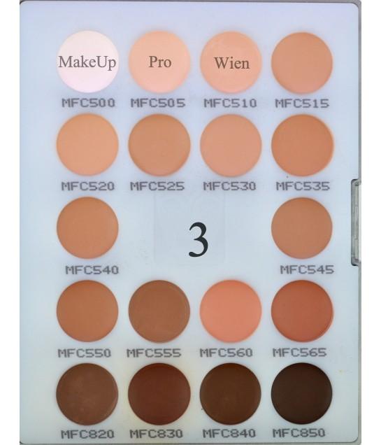Kryolan Micro Foundation Cream Palette 18 Farben 11g