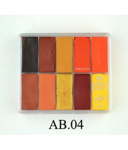 Maqpro, Palette Fard Creme, 10 Farben, 30 ml