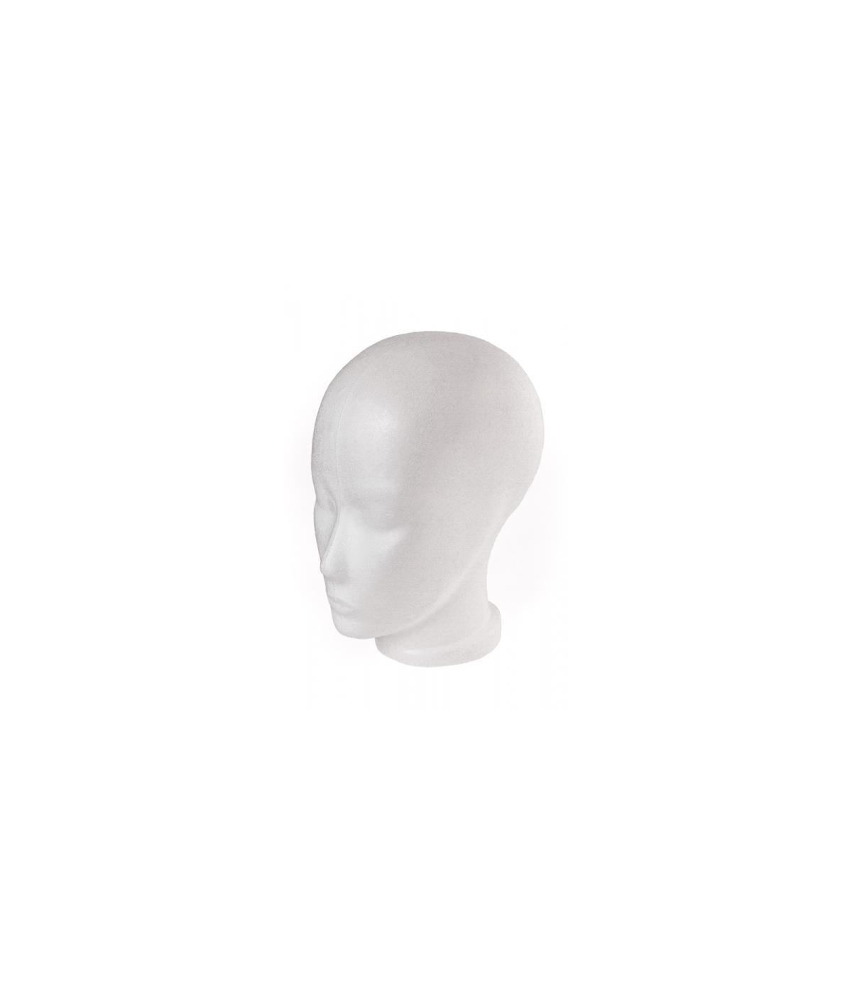 Fischbach & Miller Styropor Kopf mit Gesicht, 55/56 cm
