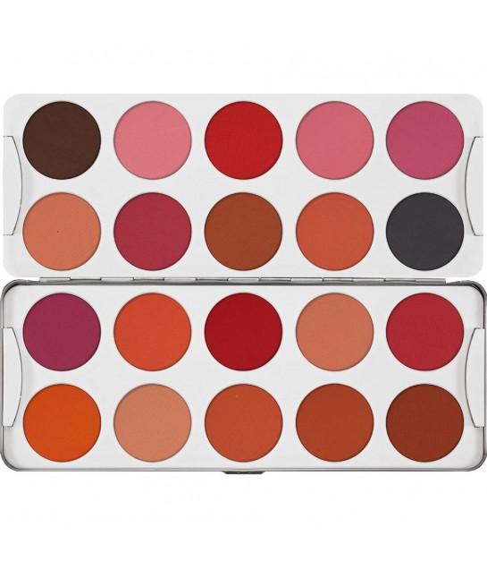 Kryolan Trockenrouge Palette 20 Farben50g