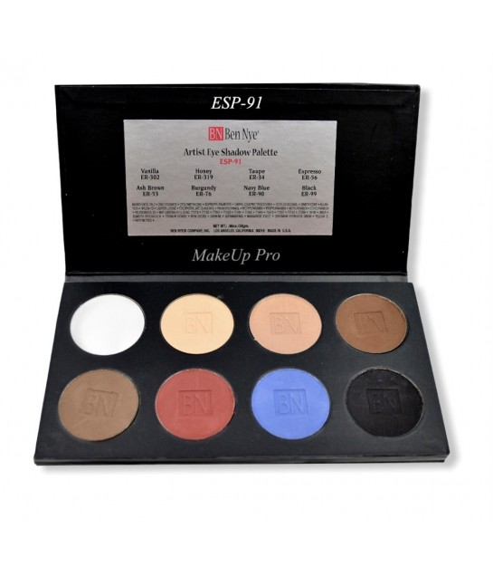Ben Nye Eye Shadow Palette, 8 Farben