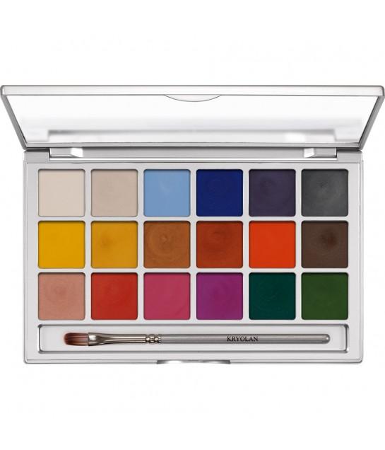 Kryolan Shimmering Vision Palette 18 Farben