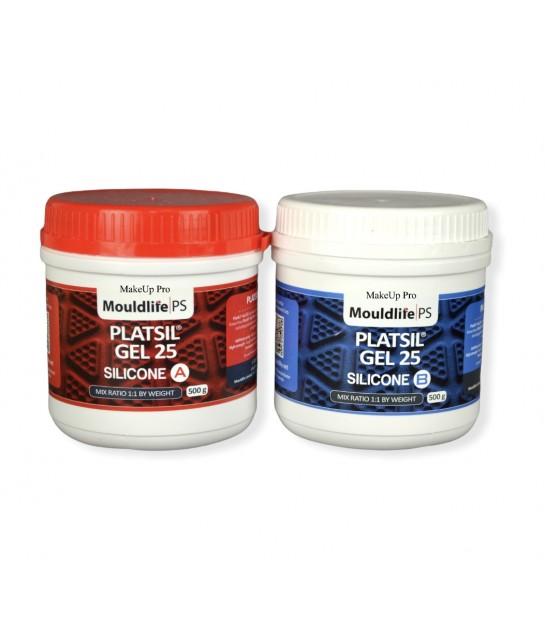 MouldLife Platsil Gel 25, Prosthetik Grade Silicone, Harder 1 Kg Kit