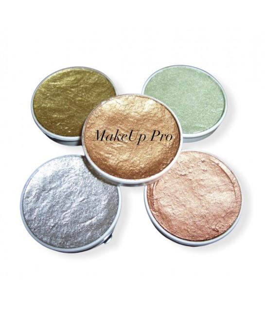 Kryolan Aquacolor Metallic Farben, Paletten Nachfüllung 4ml